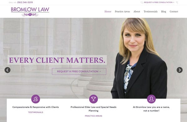 Bromlow Law Website