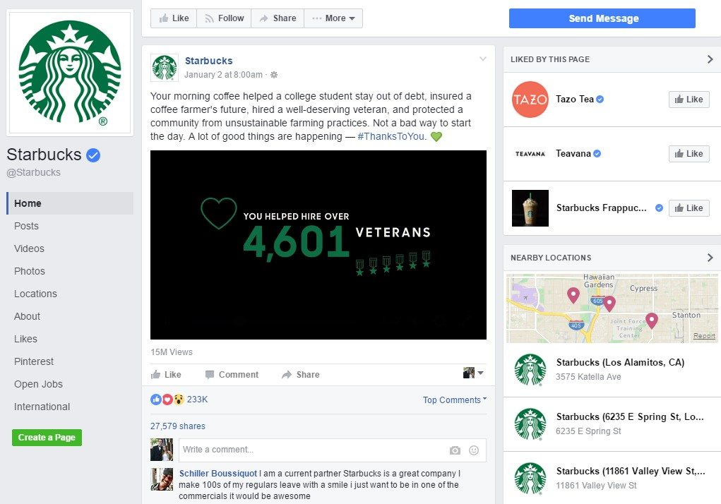 starbucks fb
